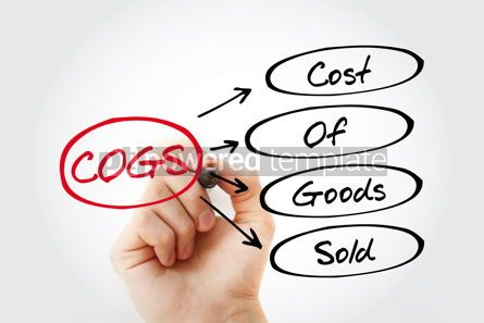 Business: COGS - Cost of Goods Sold acronym with marker business concept #13434