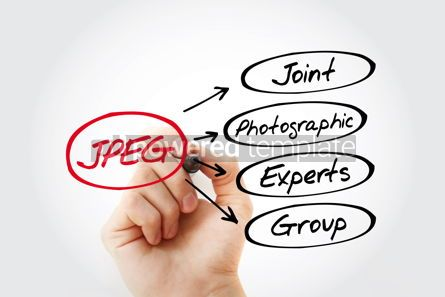 Business: JPEG - Joint Photographic Experts Group acronym concept backgro #13436