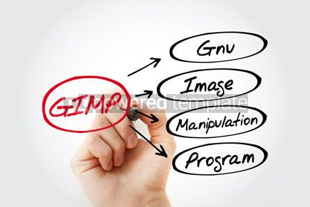 Business: GIMP - Gnu Image Manipulation Program acronym concept backgroun #13437