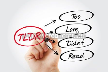 Business: TLDR - Too Long Didn't Read acronym business concept background #13438