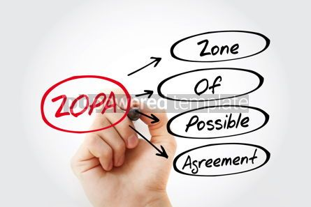 Business: ZOPA - Zone Of Possible Agreement acronym business concept back #13440