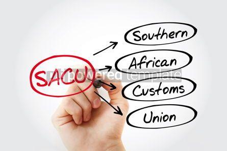 Business: SACU - Southern African Customs Union acronym concept backgroun #13442