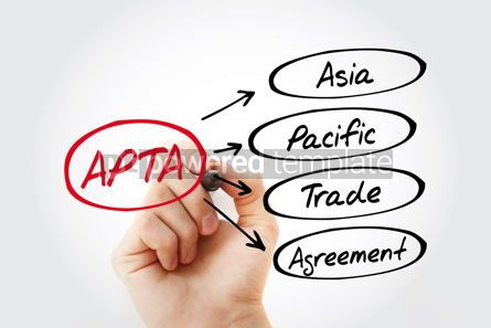 Business: APTA - Asia Pacific Trade Agreement acronym business concept ba #13444