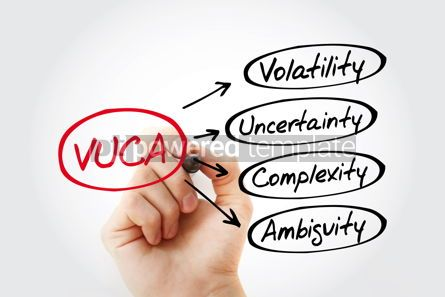 Business: VUCA - Volatility Uncertainty Complexity Ambiguity acronym b #13446