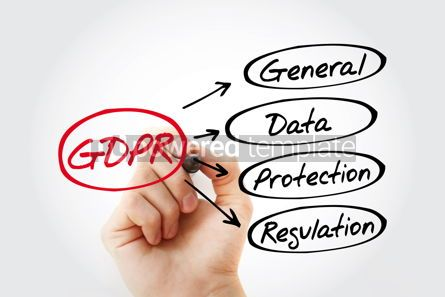 Business: GDPR - General Data Protection Regulation acronym with marker t #13448