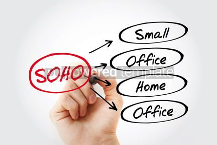 Business: SOHO - Small Office Home Office acronym business concept backgr #13451