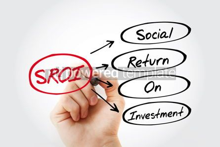 Business: SROI - Social Return On Investment acronym business concept bac #13452