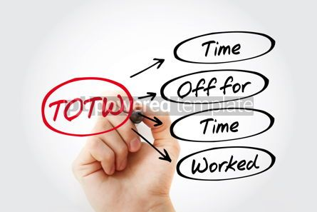 Business: TOTW - Time Off for Time Worked acronym with marker business co #13453