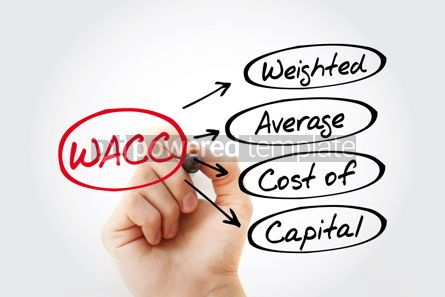 Business: WACC - Weighted Average Cost of Capital acronym with marker bus #13454