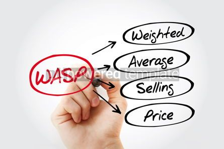 Business: WASP - Weighted Average Selling Price acronym business concept #13455
