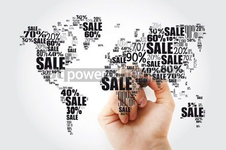 Business: Sale text with percents in shape of World Map word cloud busine #13458