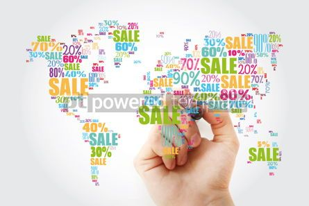 Business: Sale text with percents in shape of World Map word cloud busine #13459
