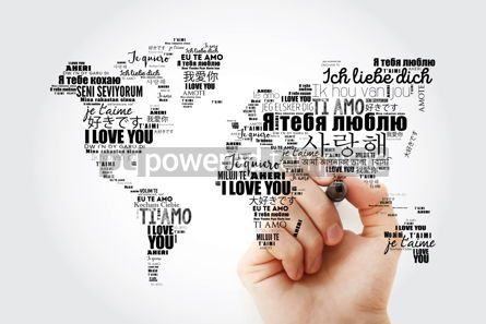 "Business: Love words ""I love you"" in different languages in shape of World #13462"