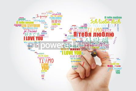 "Business: Love words ""I love you"" in different languages in shape of World #13463"
