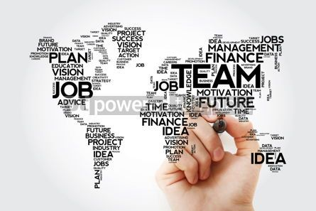 Business: TEAM word cloud in shape of world map business concept backgrou #13475