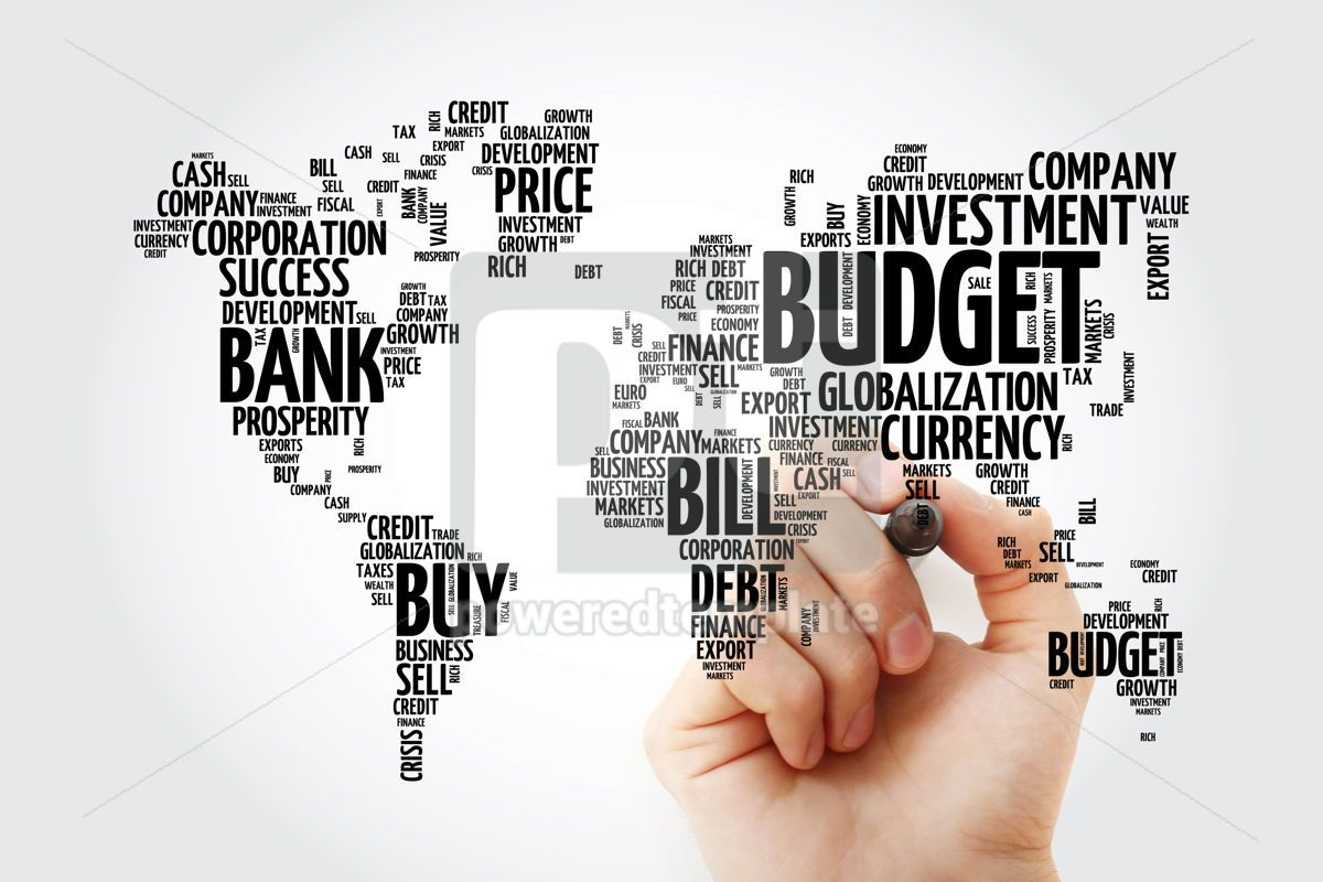 Business and Invest word cloud in shape of world map finance co, 13478, Business — PoweredTemplate.com