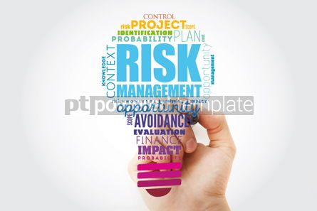 Business: Risk Management light bulb word cloud collage business concept #13482