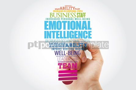 Business: Emotional intelligence light bulb word cloud collage business c #13483