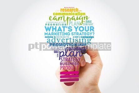 Business: What's Your Marketing Strategy light bulb word cloud business c #13486