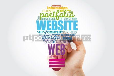 Business: WEBSITE light bulb word cloud business concept background #13487