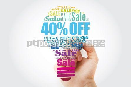 Business: 40 OFF Sale light bulb word cloud collage business concept bac #13496