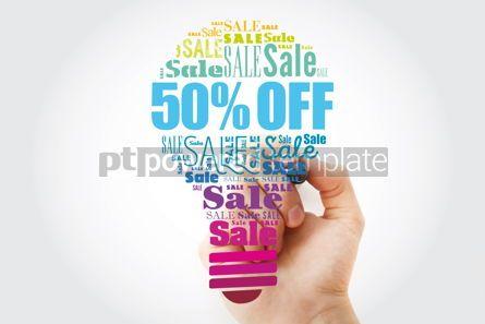 Business: 50 percent Off Sale light bulb word cloud collage business conc #13497