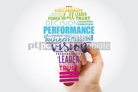 Business: Performance light bulb word cloud business concept background #13509