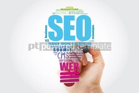 Business: SEO Search Engine Optimization light bulb word cloud business #13511