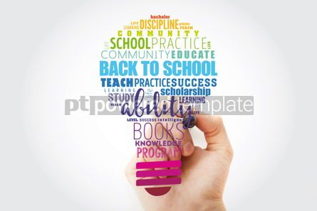Business: Back to School light bulb word cloud collage education concept #13517