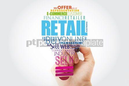 Business: Retail light bulb word cloud collage business concept backgroun #13518