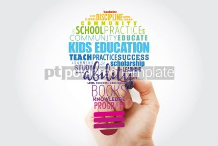 Business: Kids Education light bulb word cloud collage education concept #13523