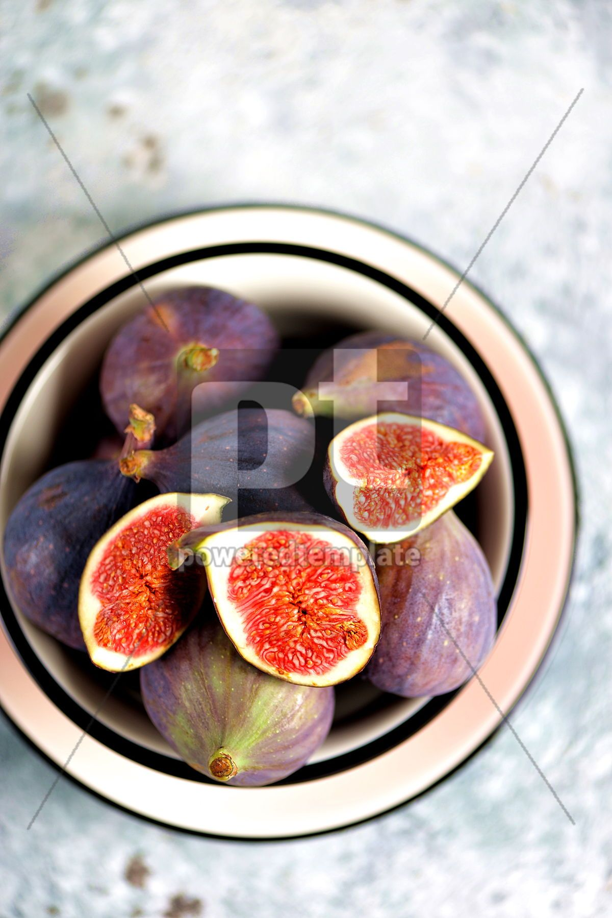 Ripe fresh organic figs on a gray background, 13532, Food & Drink — PoweredTemplate.com