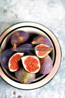 Food & Drink: Ripe fresh organic figs on a gray background #13532