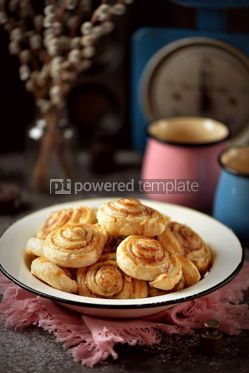 Food & Drink: Delicious homemade puff pastry cookies with sugar and cinnamon #13721