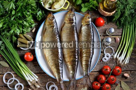 Food & Drink: Mediterranean cuisine - smoked herring with boiled potatoes #13879