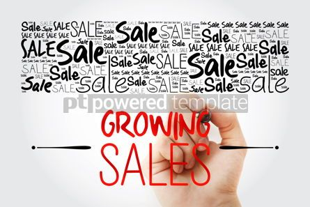 Business: Growing Sales word cloud collage business concept background #13898