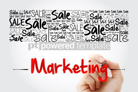 Business: MARKETING SALE word cloud with marker business concept #13900