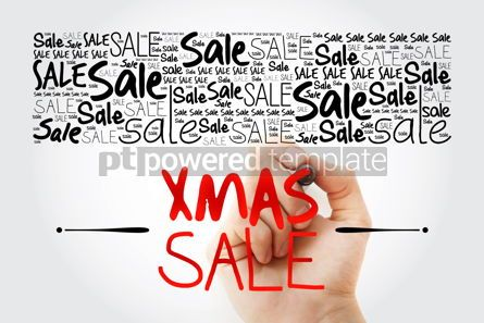Business: XMAS SALE word cloud collage business concept background #13903