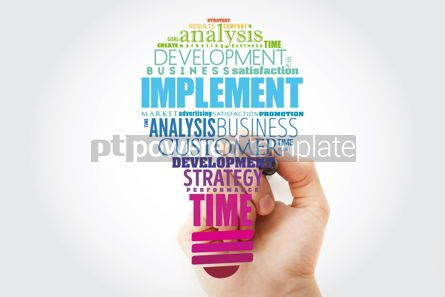 Business: Implement light bulb word cloud collage business concept backgr #13909