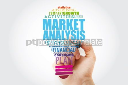 Business: Market Analysis light bulb word cloud collage business concept #13914