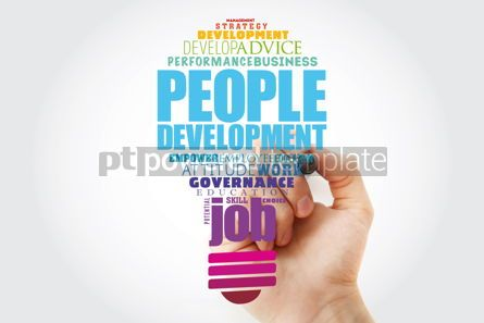 Business: People Development light bulb word cloud collage business conce #13918