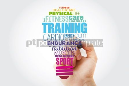 Education: TRAINING light bulb word cloud fitness sport health concept #13921
