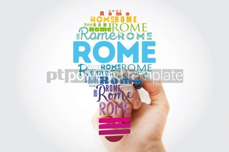 Business: Rome light bulb word cloud travel concept background #13928