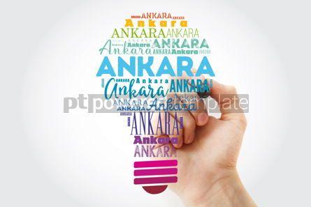 Business: Ankara light bulb word cloud travel concept background #13931