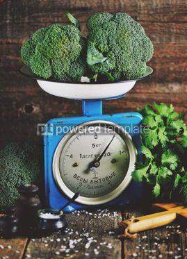 Food & Drink: Healthy organic vegetables on old Soviet mechanical scales #13938