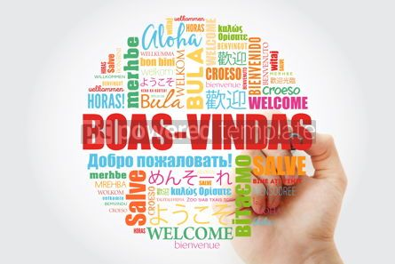 Business: Boas-Vindas Welcome in Brazilian Portuguese word cloud with ma #13994