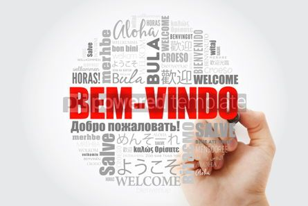 Business: Bem-Vindo Welcome in Portuguese word cloud with marker in diff #13999