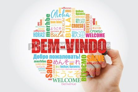 Business: Bem-Vindo Welcome in Portuguese word cloud with marker in diff #14000