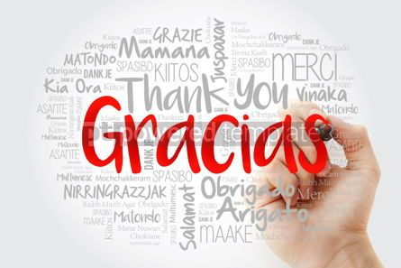 Business: Gracias Thank You in Spanish word cloud in different languages #14010