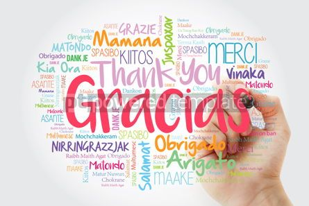 Business: Gracias Thank You in Spanish word cloud in different languages #14011